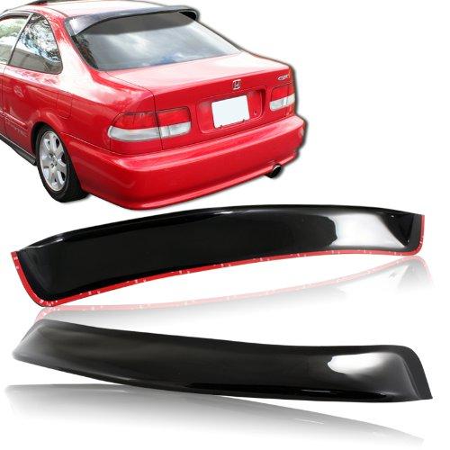1996-2000 Honda Civic Coupe Black ABS Plastic Rear Window Roof Visor Spoiler (Roof Abs Spoiler)