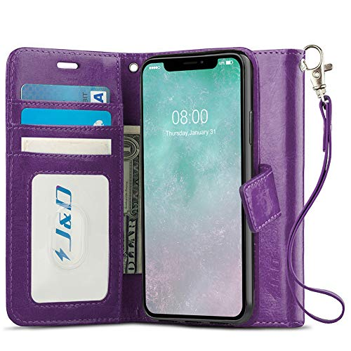 J&D Case Compatible for iPhone 11 Case, [RFID Blocking Wallet] [Slim Fit] Heavy Duty Protective Shockproof Flip Cover Wallet Case for iPhone 11 Wallet Case - [Not for iPhone 11 Pro/iPhone 11 Pro Max]