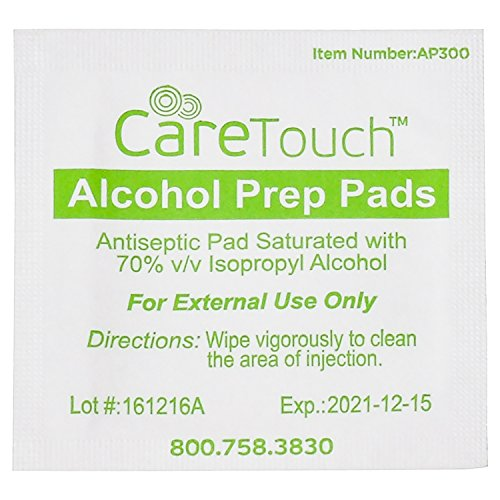 Care Touch Sterile Alcohol Prep Pads, Medium 2-Ply - 400 Alcohol Wipes by Care Touch (Image #2)