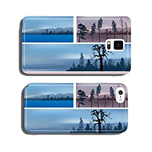 set of four mountains dark landscapes cell phone cover case Samsung S5
