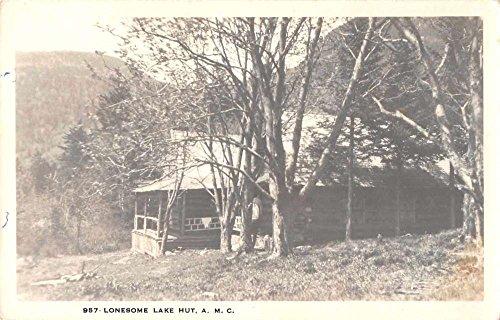 New Hampshire Appalachian Mountain Club Lake Hut Real Photo Postcard - The Hut Real