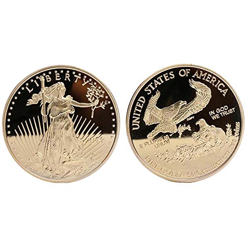 Non-currency Coins - 1 Pc The Non Magnetic Freedom 2011 Coin Liberty Gold Plated Badge Usa Eagle Souvenir 40 3mm - Coin Eagle American Coin Gold Ring Collect American Russia Guitar Pin Jewelri Ea (Price Of 1 Oz Gold American Eagle)