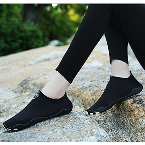 Breathable Mesh Wading Pure Casual Black Flat Heeled Shoes L Sports RUN Outdoor Unisex Mutifunctional xq44Cn0EH8