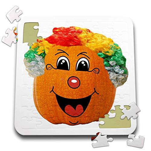 Sandy Mertens Halloween Food Designs - Jack o Lantern Funny Clown Face Halloween Pumpkin, 3drsmm - 10x10 Inch Puzzle (pzl_290217_2) -