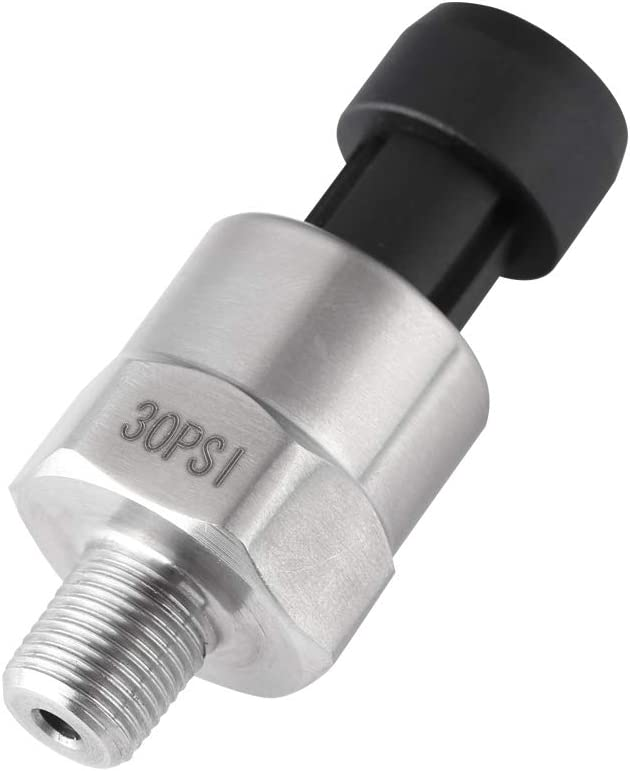150PSI Pressure Sensor Transducer Sender Stainless Steel Senor Pressure Wiring Connector Water Sealed Quick Disconnect for Oil Fuel Diesel Gas Water Air