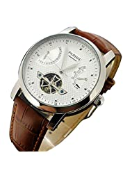 Whatswatch 43mm parnis white dial date window power reserve seagull automatic mens watch PA-012