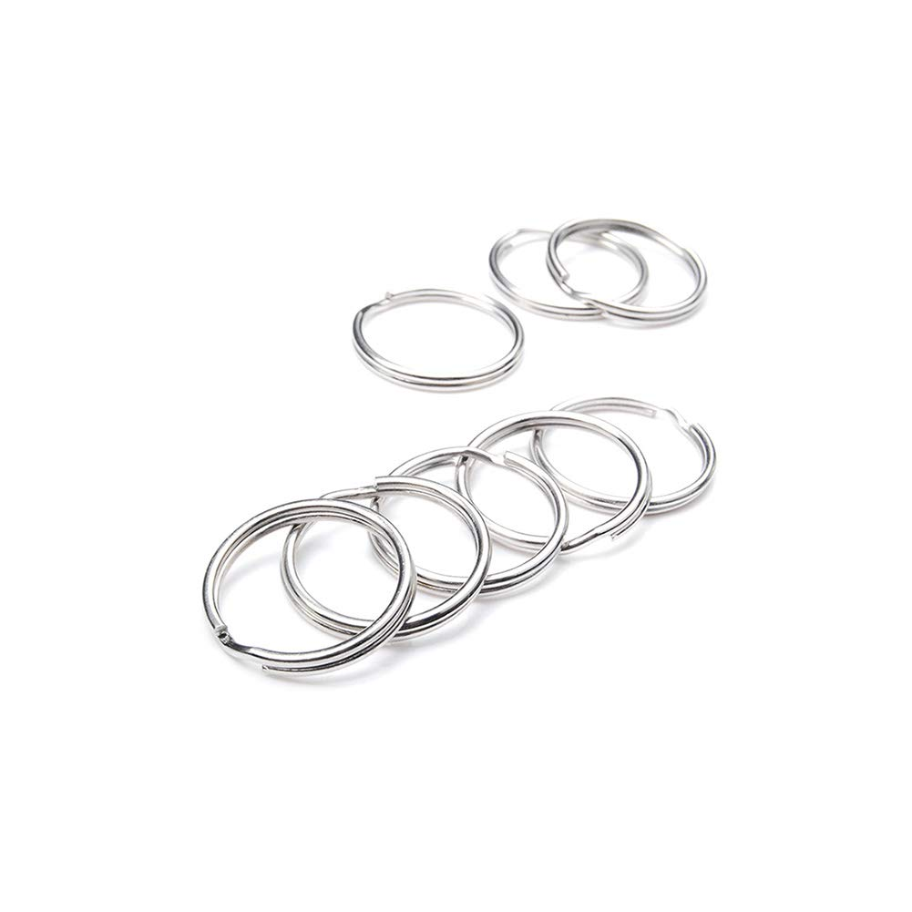CooBigo 100pcs Pack 3//4 Outer Diameter Key Rings Key Chain Split O-Rings Silver Nickel-Plated Craft Bag Part Accessories 20mm