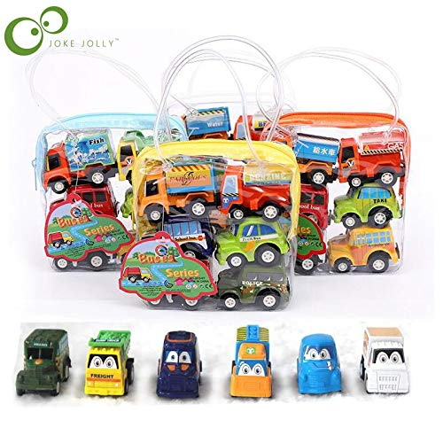 Diecasts & Toy Vehicles - 6pcs/lot Pull Back Car Toys Car Children Kids Racing Car Mini Cars Cartoon Pull Back Bus Truck Toys for Children Boy Gifts GYH - by TINIX - 1 PCs from TINIX