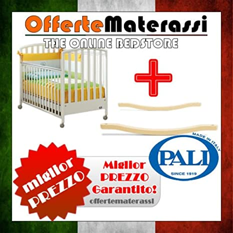 Lettino Ciak Pali bianco + kit dondolo per lettino infanzia bimbo ...