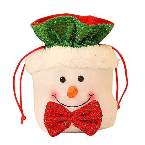 Willsa Cute Exquisite Christmas Candy Party Gift Bag Decorations Xmas Storage Packing Wrapper Supplies -