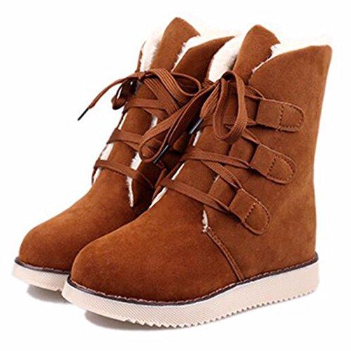 d2e6eb24630 Otoño invierno la nieve botas zapatos de mujer corto-corto botas de  terciopelo más plana caliente con estudiantes