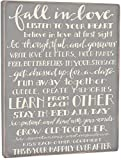 Fall In Love Gray Box Sign