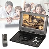 Hanbaili EU Plug 9 inch DVD Media Player, Mini 9'' LCD Display 720P EVD DVD Media Player Support U Disk SD Card
