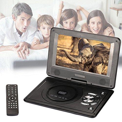 Hanbaili EU Plug 9 inch DVD Media Player, Mini 9'' LCD Display 720P EVD DVD Media Player Support U Disk SD Card by Hanbaili