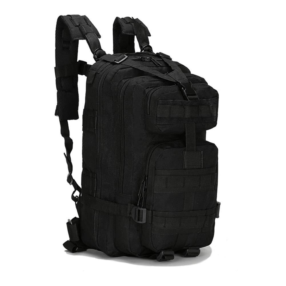 陸軍ファン戦術バッグ、アウトドアスポーツ登山バッグハイキングキャンプハイキング狩猟迷彩バッグ、アウトドア登山キャンプサイクリング  Black B07QRY1F68
