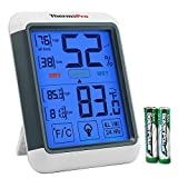 #9: ThermoPro TP55 Digital Hygrometer Indoor Thermometer Humidity Gauge with Jumbo Touchscreen and Backlight Temperature Humidity Monitor