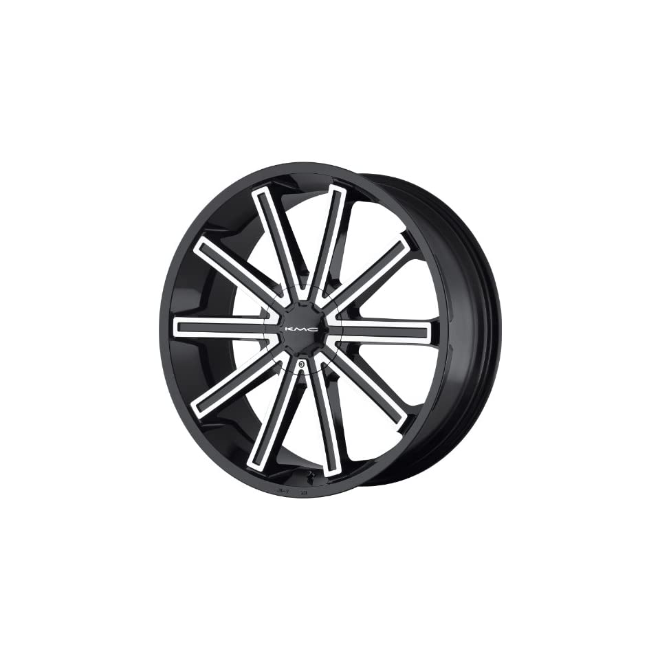 KMC KM681 20 Black Wheel / Rim 5x4.5 & 5x120 with a 38mm Offset and a 74.1 Hub Bore. Partnumber KM68128517338 Automotive