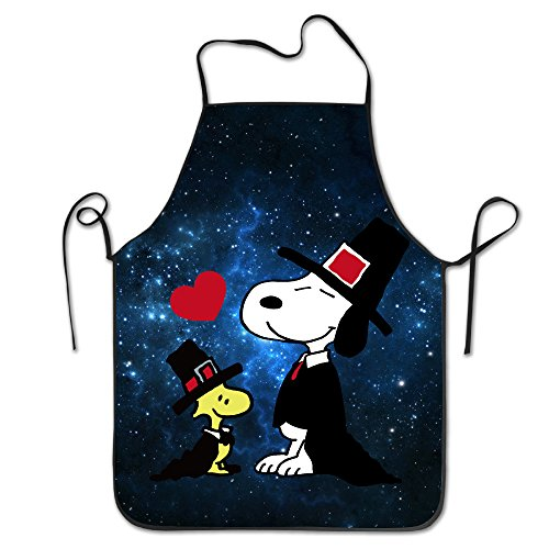 Unisex Peanuts Snoopy Thanksgiving Hat Kitchen Cooking Grilling Apron Neck Straps Without Pockets (Costumes Couples Ideas)