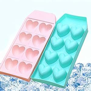 Tikkii Love Heart Shape Ice Mould Ice Maker Tray Mold Bar Candy Mold