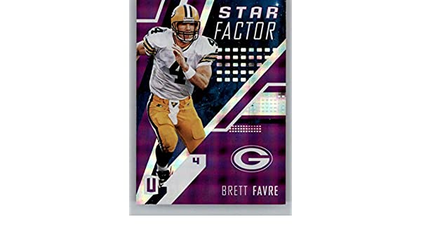 Amazon.com  2017 Unparalleled Star Factor Purple Football  3 Brett Favre  SER 49 Green Bay Packers Official NFL Trading Card From Panini   Collectibles   Fine ... fa79bbc2f