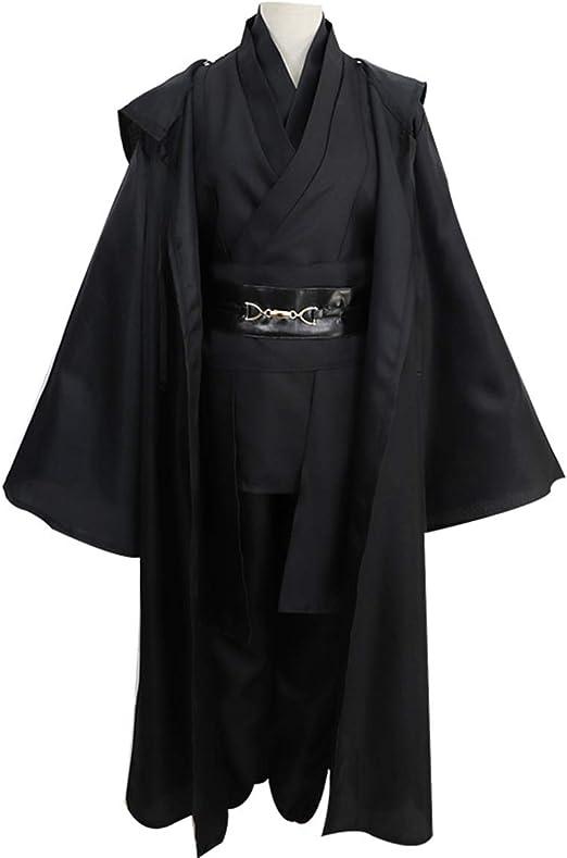 GRYY Disfraz de Cosplay Ropa de Samurai Traje Negro Uniforme de ...