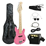 "ZENY 30"" Kids Pink Electric Guitar with Amp & Much More Guitar Combo Accessory Kit"