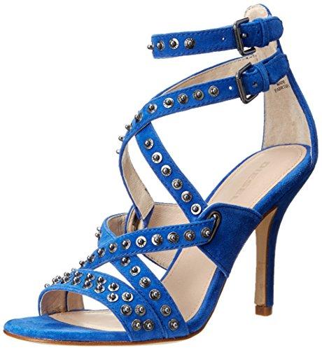 azul Blauton de vestir Sandaletten Piel mujer para de Sandalias xnTq0180B6