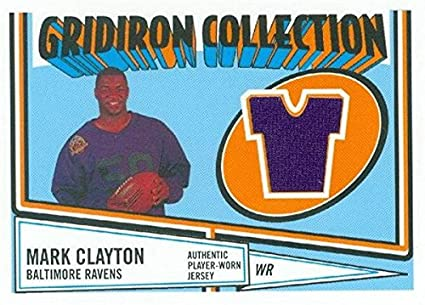 wholesale outlet best choice buy sale Mark Clayton player worn jersey patch football card ...