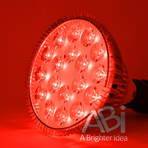 ABI True 26W Red 620-630nm PAR38 LED Grow Light Bulb with Active Cooling for Flowering