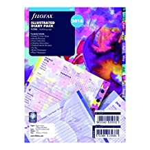 """Filofax C6351-2018 2018 Weekly Illustrated Floral Refills, A5 Size: 8-1/4"""" x 5-3/4"""""""