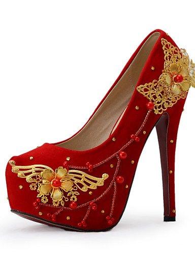 BGYHU GGX/Damen Schuhe Stiletto Heel Heels Heels Hochzeit/Party & Abend/Kleid Rot 5in & over-us7.5 / eu38 / uk5.5 / cn38