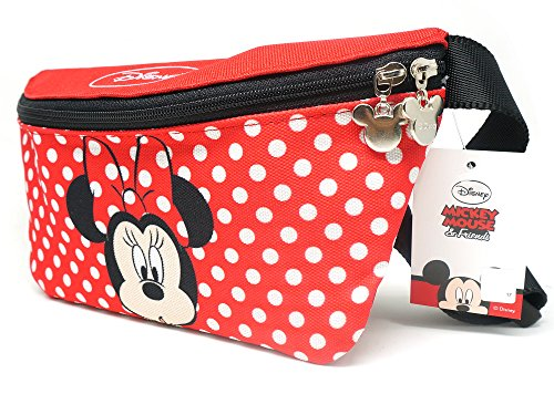 Disney Minnie Mouse Zippered Waist Pack Belly Small Bag for Girls