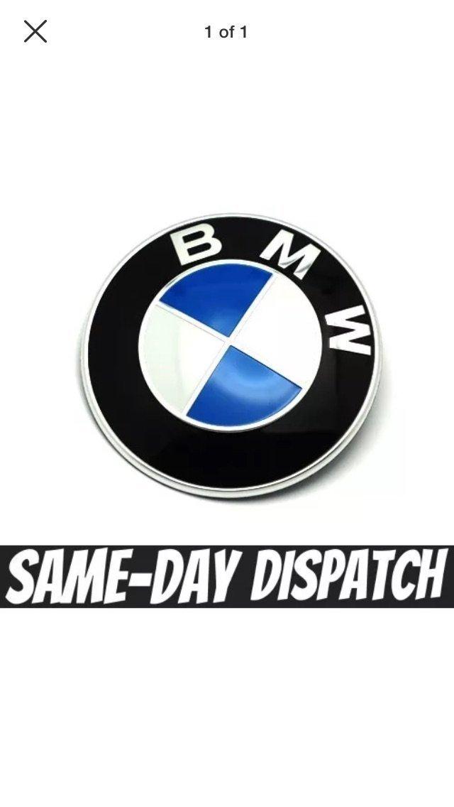 Emblema distintivo per cofano BMW E46 E60 E61 E81 E90 E91 E92 X5 M3 74 mm