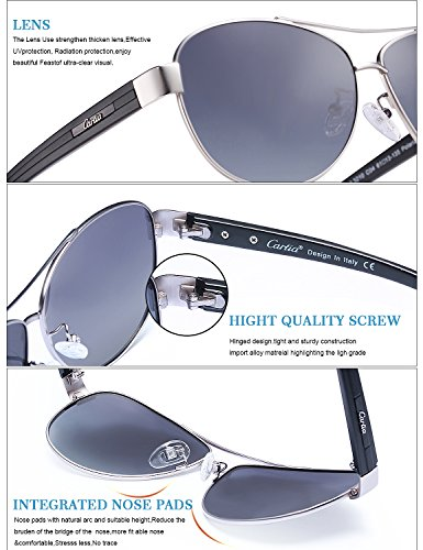 polarizado Carfia D Aviador de sol UV gafas 400 Mujeres de Protección conducción el con Hombre caso Z0rW0nYT