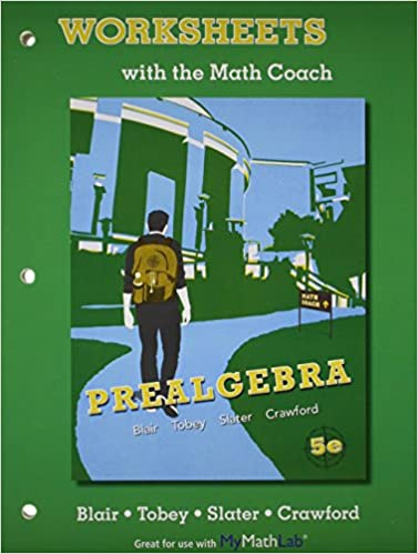 Worksheets with the Math Coach for Prealgebra: Jamie Blair, John ...