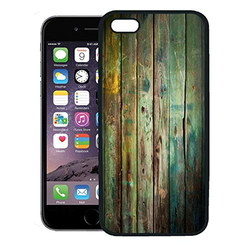 - Semtomn Phone Case for iPhone 8 Plus case,Green Rustic Old Wood Colorful Vintage Antique Rugged Wall Wooden iPhone 7 Plus case Cover,Black