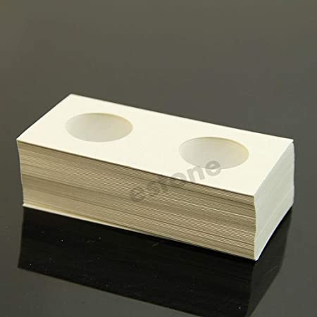 Rtengtunn Bolsa de Papel Moneda, 50Piezas 20.5mm Monederos de Madera Clip de Almacenamiento Estuche Bolsas de Papel Flip: Amazon.es: Hogar