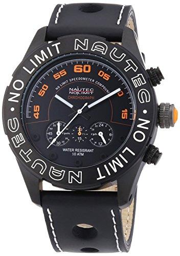 Nautec No Limit DK QZ/LTIPBK - Men's Watch, Leather, Color: Black
