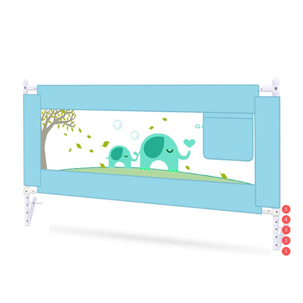 ベッドフェンス- 幼児用のエクストラロングベビーベッドレール、縦型シングルベッドガード、折りたたみ式2.2m防護柵、エクストラトール92cm(グリーン) (サイズ さいず : 200cm) 200cm  B07MHF5JCF