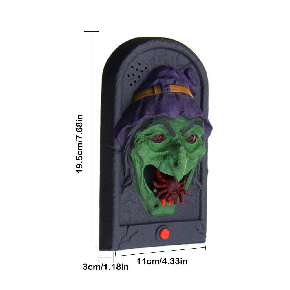Fancystar Halloween Decorative LED Light Doorbell with Spooky Sounds Haunted House Prop Lamp Halloween Party Prop Decoration by Fancystar (Image #3)