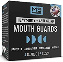 M3 Naturals Heavy Duty Mouth Guards for Teeth Grinding Clenching Bruxism Moldable Trimmable Retainer for Bite, Sleep,...