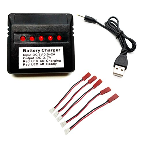 pter RC Quadcopter RC Drone Lipo Battery Charger for X5C X5C-1 X5SC X5SW U818A-1 U818A X400W F181 F180 HS170 U45W U42W CW4 F181C F181W HS110 HS120 HS200 X708W Q2020 HS170C H107 ()