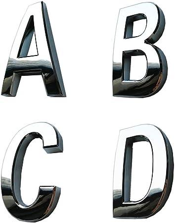 3D Metal G Letter Shaped Alphabet Sticker Car Auto Emblem Badge Decal Black