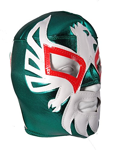 MEXICANO Adult Lucha Libre Wrestling Mask (pro-fit) Costume Wear - Green]()