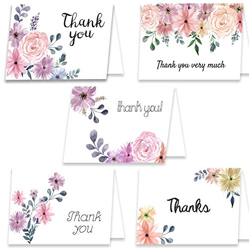 Premium Heavy Assorted Thank You Cards - 40 Cards & 40 Envelopes 4.5
