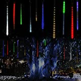 [Prettiest LED String Lights] GMFive Waterproof Falling Rain Lights with 36pcs RGB LEDs,Icicle Snow Fall String LED Cascading Lights for Wedding, Party, Holiday, Xmas Decoration