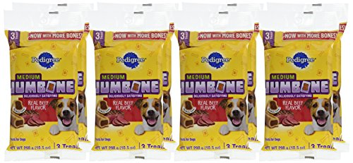 Picture of Pedigree Jumbone Real Beef Flavor Medium Dog Treats (8 Pack , 3 Treats Per Pack), 10.5 Oz