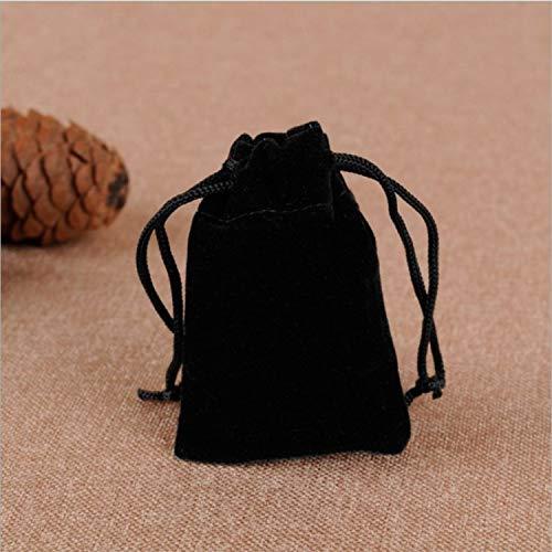 LIAOYLY Fashion New Gift Velvet Bag Black Velvet high-Grade Bag Jewelry Bag/Jewelry Box 7 9,Black