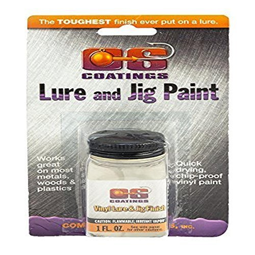 Jig Paint Fishing - Component Systems DRMS-210 Vinyl Lure and Jig Paint, Clear