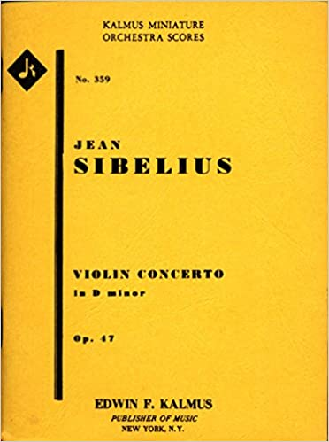 Amazon Violin Concerto In D Minor Op 47 Jean Sibelius Books